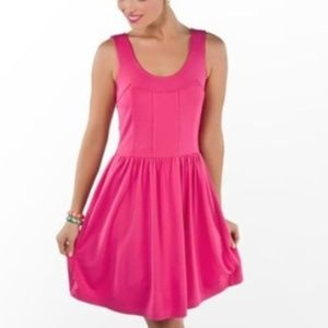 Lilly Pulitzer Pink Fit Flare Agatha Dress L